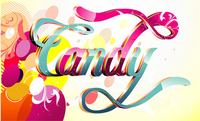 Candy word vector