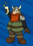 Wikinger, Zwerg, betrunken, Viking, Dwarf, drunk poster