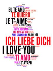 Ich Liebe Dich - Tagcloud