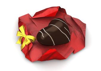 Heart chocolate (love, valentine day series)