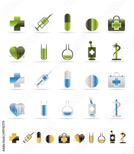 Medical Icon and signs - vector icon set