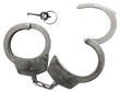 Police cuffs isolated with clipping path