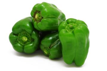 green paprikas