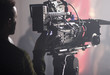 Digital cinema camera on a foggy/smoky movie set - 19745908