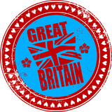 Grunge rubber stamp with the name of Great Britain poster