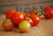 grappe de tomates rouges et vertes