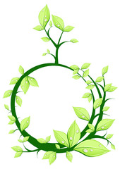 Vector illustration of plant in form circle
