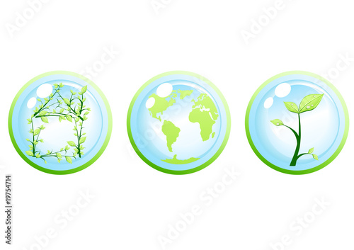 Vector illustration of ecology green concept
