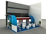 Exhibition Stand Interior Sample poster
