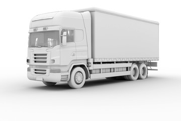 Truck - isolated on white