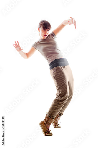 bright photo of lively dancer
