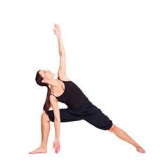 pretty woman practicing yoga