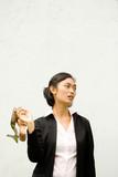 jobless businesswoman on crisis