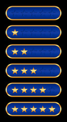 Gold stars (blue background)