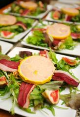 Assiettes de foie gras