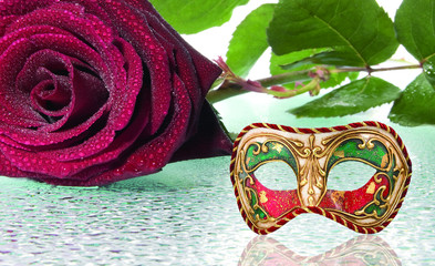 la maschera e la rosa