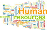 Human resources background concept poster