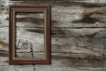 frame on wooden background