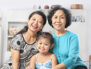 Three generation of Asian females