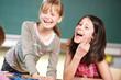 Leinwanddruck Bild - Spass in der Schule