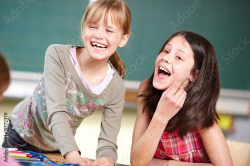Leinwanddruck Bild Spass in der Schule