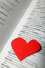 cuore rosso su vocabolario