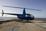 Robinson R44 on an helipad