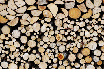 wood stacked stocking