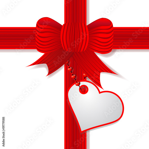 Valentine red bow