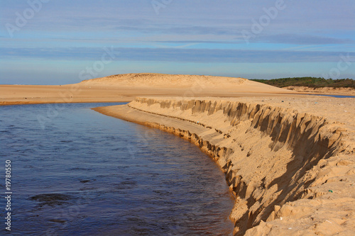 falaise de sable naturelle