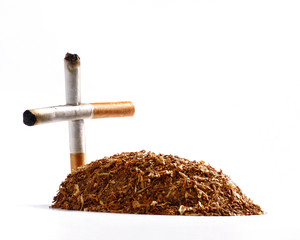 Una tumba de tabaco.