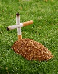 La tumba de un fumados.