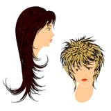 Feminine hairdos. poster