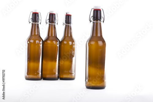 Leinwandbild Motiv Bierflaschen #2
