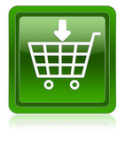 E-commerce insert product icon green poster