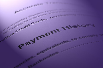 Payment history. Financial concept