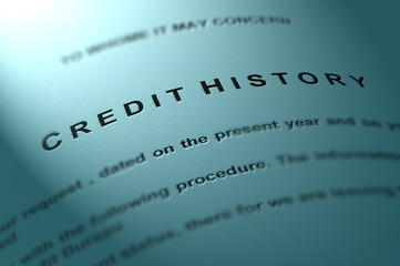 Credit history. Financial concept