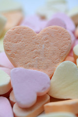 Valentine candy heart with I love you text