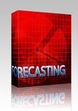Forecasting budgeting illustration box package poster