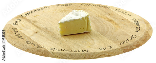 mini portion camembert planche fromage fond blanc
