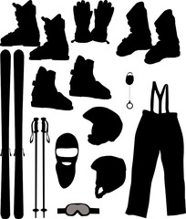 a set of skis - Vector illustration