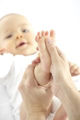 baby fußmassage