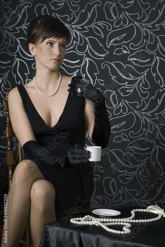 Aristocratic lady in a boudoir
