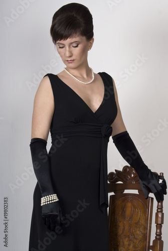 Aristocratic lady in an evening dress