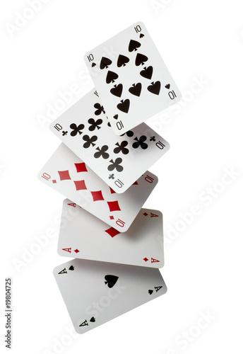 Poster playing cards poker gamble game leisure