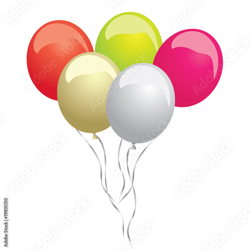 colorful ballon set