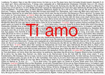 Ti amo in tutte le lingue del mondo