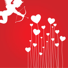 love card with cupid