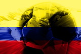 Flag of Colombia soccer poster