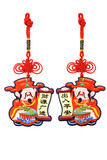 Chinese new year God of Prosperity ornaments poster